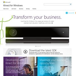Kinect for Windows | Develop for the Kinect | Kinect for Windows