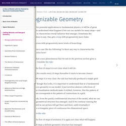Recognizable Geometry: Wolfram Physics Project Technical Background