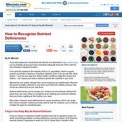 How to Recognize Nutrient Deficiencies