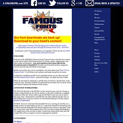 Famous Fonts - Fonts you recognize, FREE for download! - famousf