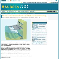 Subsea World News - UK: Frost & Sullivan Recognizes Eco Wave Power for Its Innovations in Wave Energy