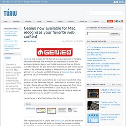 Genieo now available for Mac, recognizes your favorite web content
