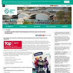 La RATP reçoit le label Top Employeurs France pour la 3e année consécutive