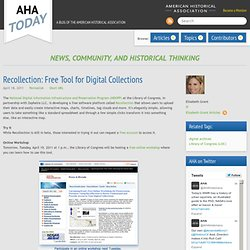 Recollection: Free Tool for Digital Collections