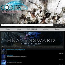 Guide Récolte Mineur/Botaniste » Final Fantasy XIV CODEX