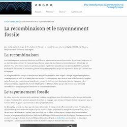 La recombinaison et le rayonnement fossile