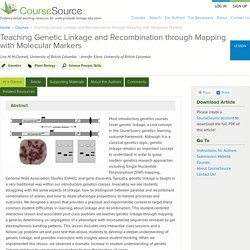 Teaching Genetic Linkage and Recombination through Mapping with Molecular Markers