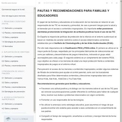 4.3 Pautas y recomendaciones · Convivencia segura en la red.