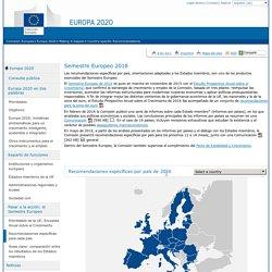 Recomendaciones específicas por país de 2016 - Comisión Europea