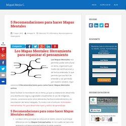 5 Recomendaciones para como hacer Mapas Mentales online
