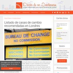 Listado de casas de cambio recomendadas en Londres