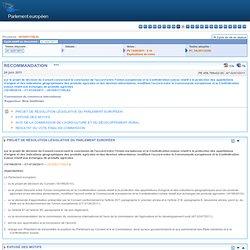 PARLEMENT EUROPEEN 24/06/11 RECOMMANDATION sur le projet de décision du Conseil concernant la conclusion de l'accord entre l'Uni