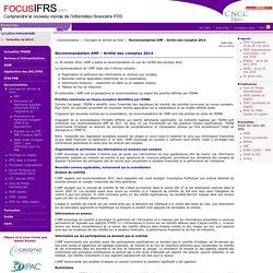 Recommandation AMF – Arrêté des comptes 2014 / Ouvrages et articles de fond / Documentation