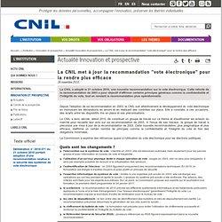 """La CNIL met à jour la recommandation """"vote électronique"""" pour la rendre plus efficace"""