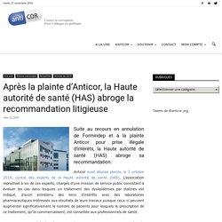Après la plainte d'Anticor, la Haute autorité de santé (HAS) abroge la recommandation litigieuse