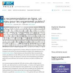 La recommandation en ligne, un enjeu pour les organismes publics?