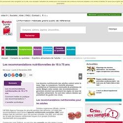 Les recommandations nutritionnelles de 18 à 75 ans - EurekaSanté par VIDAL
