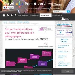 Des recommandations pour une différenciation pédagogique - Prim à bord