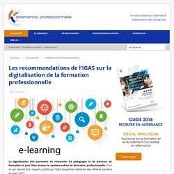 Les recommandations de l'IGAS sur la digitalisation de la formation professionnelle - Alternance Professionnelle