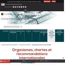 Organismes, chartes et recommandations internationales