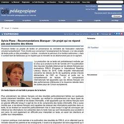 Sylvie Plane : Recommandations Blanquer : Un projet qui ne répond pas aux besoins des élèves
