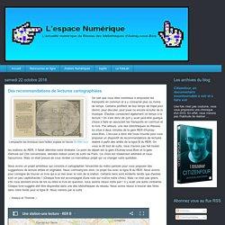 L'espace numérique: Des recommandations de lectures cartographiées
