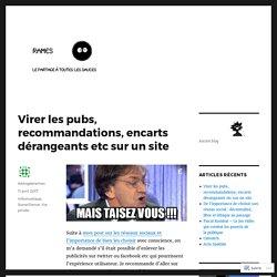 Virer les pubs, recommandations, encarts dérangeants etc sur un site – Le blog de Rames