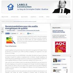 Recommandations pour des audits énergétiques de qualité