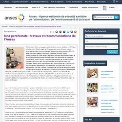 ANSES 04/06/14 Ions perchlorate : travaux et recommandations de l'Anses