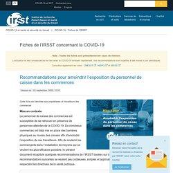 Recommandations pour amoindrir l'exposition du personnel de caisse dans les commerces > IRSST : Institut de recherche Robert-Sauvé en santé et en sécurité du travail