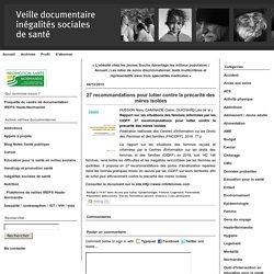 27 recommandations pour lutter contre la précarité des mères isolées / CIDFF, novembre 2019
