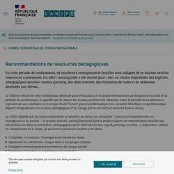 Recommandations de ressources pédagogiques - Conseil scientifique de l'éducation nationale
