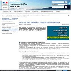 Sécuriser votre événement : quelques recommandations - L'Etat dans le Var - Préfecture de Toulon (83)