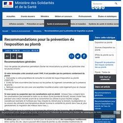 Recommandations pour la prévention de l'exposition au plomb - Bâtiments