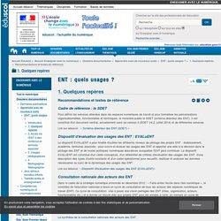 Recommandations et textes de référence — Enseigner avec le numérique