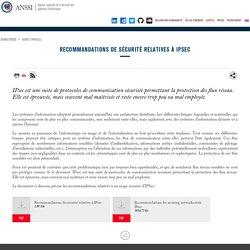 Recommandations de sécurité relatives à IPsec