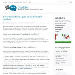 8 recommandations pour un meilleur effet parallaxe (Usaddict)