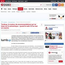 Tumbup, le moteur de recommandations qui se base sur la sémantique : quand le web 3.0 se met en marche