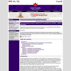 SANTE CANADA -AOUT 2012- Recommandations pour la qualité de l'eau potable au Canada