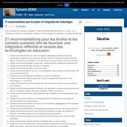 21 recommandations pour les écoles et l'intégration des technologies