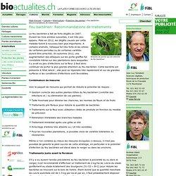 BIOACTUALITES_CH 22/04/13 Feu bactérien: Recommandations de traitements