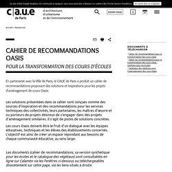 Cahier de recommandations Oasis pour la transformation des cours d'écoles - Paris