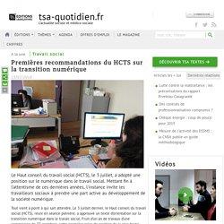 [Actualité action sociale] L'actualité TSA : Premières recommandations du HCTS sur la transition numérique