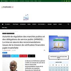Autorité de régulation des marchés publics et des délégations de service public (ARMDS) : La mise en œuvre des recommandations issues de la mission de vérification financière jugée insatisfaite
