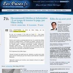 Médias et Information : il est temps de tourner la page, par Viktor Dedaj