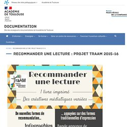 Recommander une lecture : projet TraAM 2015-16