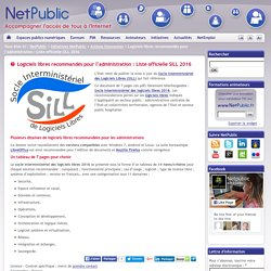 Logiciels libres recommandés pour l'administration : Liste officielle SILL 2016