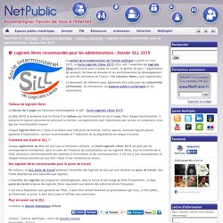 Logiciels libres recommandés pour les administrations : Dossier SILL 2015