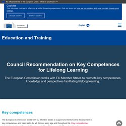 Council Recommendation on Key Competences for Lifelong Learning