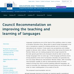 Council Recommendation on improving the teaching and learning of languages